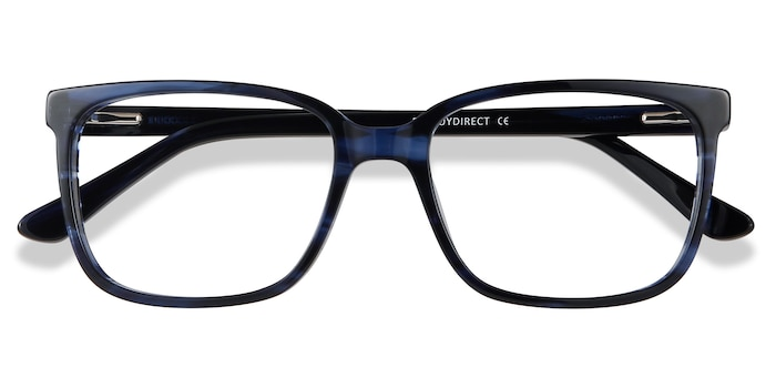 Blue Striped Formula -  Colorful Acetate Eyeglasses