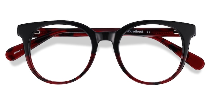 Black Red Rialto -  Acetate Eyeglasses