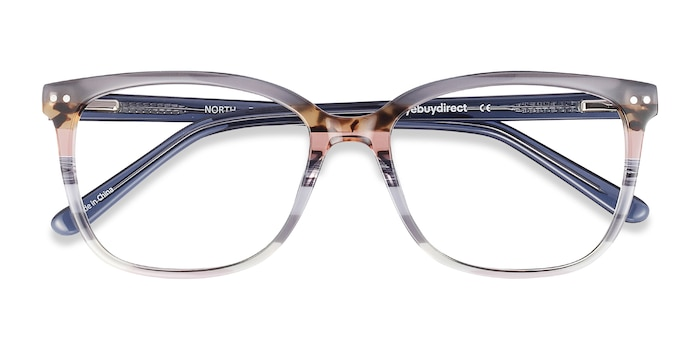 Gray Striped North -  Fashion Acetate Eyeglasses