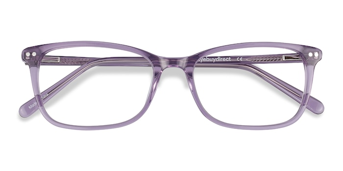 Clear Purple Alette -  Lightweight Acetate Eyeglasses