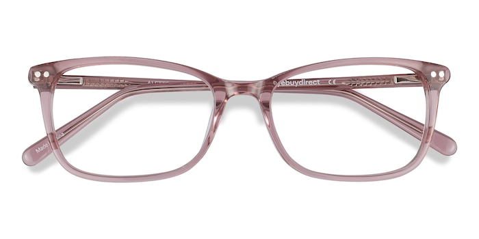 Clear Pink Alette -  Colorful Acetate Eyeglasses
