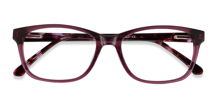 Purple Ayla -  Colorful Acetate Eyeglasses