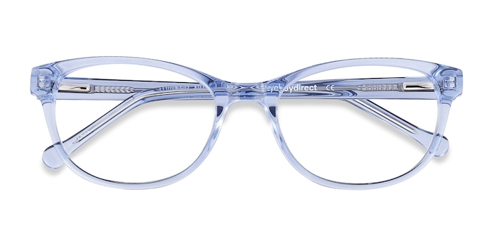 Clear Blue Thinker -  Acetate Eyeglasses