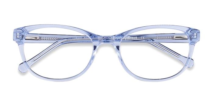 Clear Blue Thinker -  Acetate Eyeglasses
