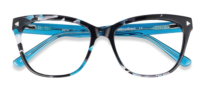 Blue Floral Petal -  Colorful Acetate Eyeglasses