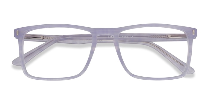 Purple Striped Arise -  Colorful Acetate Eyeglasses