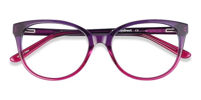Purple Pursuit -  Colorful Acetate Eyeglasses