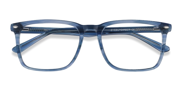 Blue Striped Tactician -  Acetate Eyeglasses