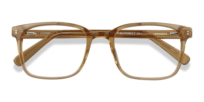 Clear Brown Charlie -  Acetate Eyeglasses