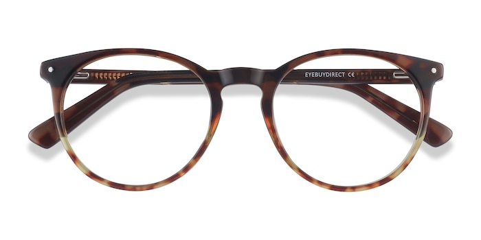 Brown Floral Fleury -  Acetate Eyeglasses