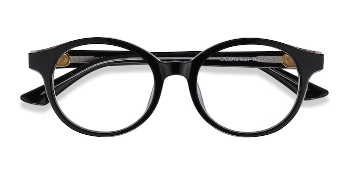 Black Amata -  Acetate Eyeglasses
