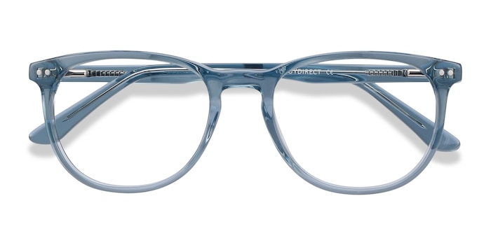 Clear Blue Cherbourg -  Colorful Acetate Eyeglasses