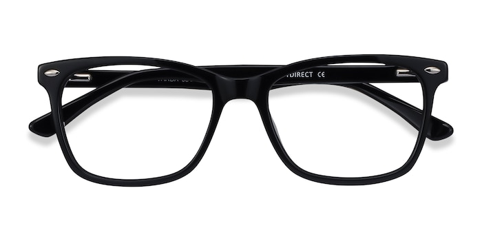 Black Varda -  Acetate Eyeglasses