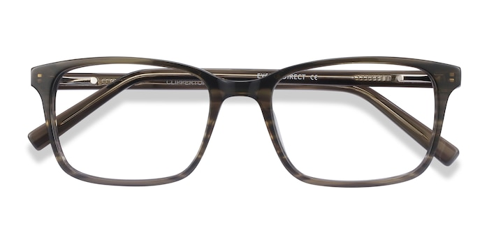 Gray Striped Clipperton -  Acetate Eyeglasses
