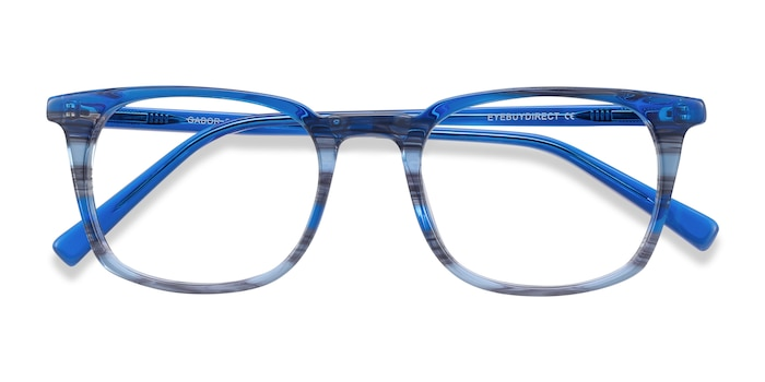 Blue Striped Gabor -  Colorful Acetate Eyeglasses