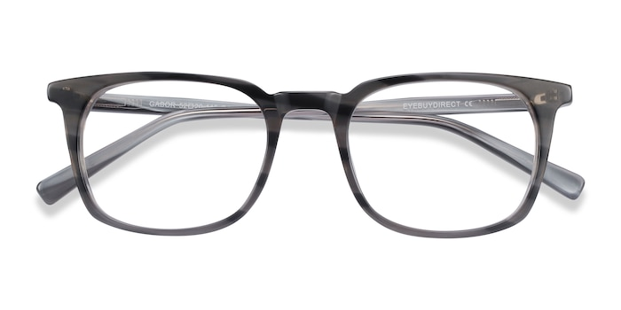 Gray Striped Gabor -  Acetate Eyeglasses