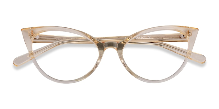 Clear Yellow Quartet -  Acetate Eyeglasses