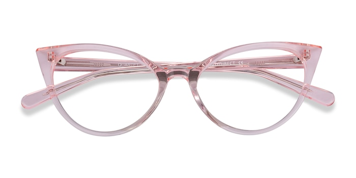 Clear Pink Quartet -  Colorful Acetate Eyeglasses