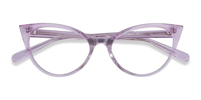 Clear Purple Quartet -  Acetate Eyeglasses