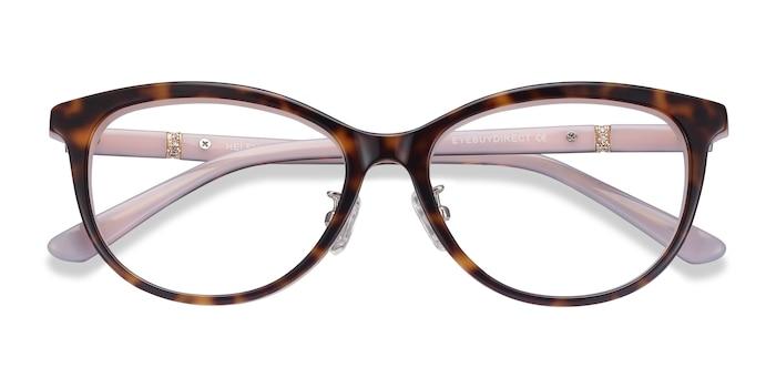Tortoise Pink Helena -  Acetate Eyeglasses