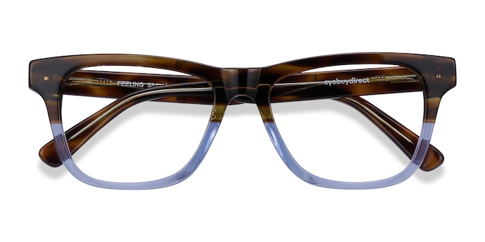 Brown Blue Feeling -  Acetate Eyeglasses