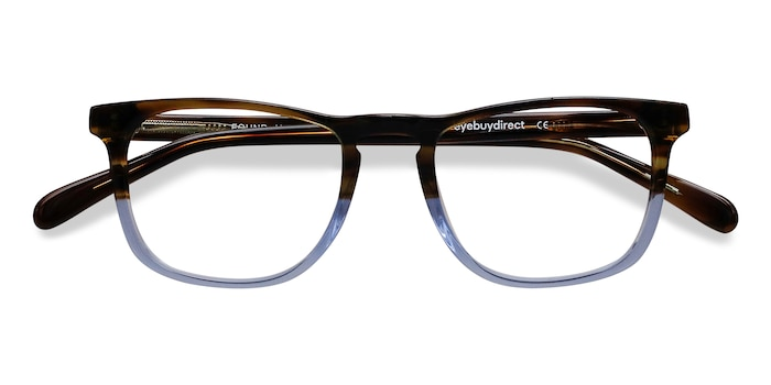 Brown Blue Found -  Acetate Eyeglasses