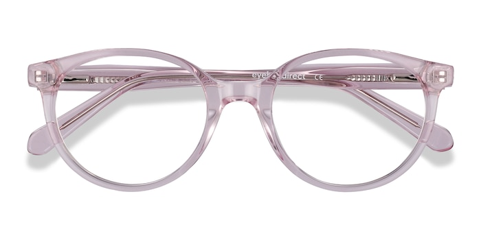 Clear Pink Trust -  Acetate Eyeglasses