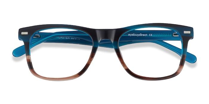Blue Striped Caster -  Acetate Eyeglasses