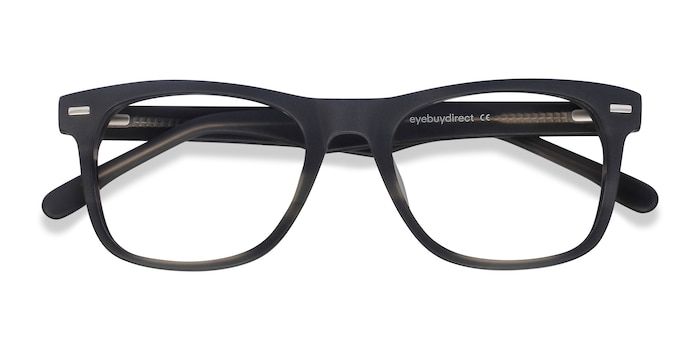 Gray Striped Caster -  Geek Acetate Eyeglasses
