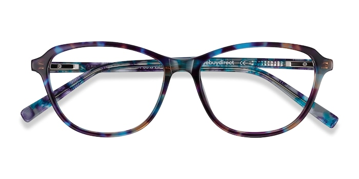 Blue Floral Ciencia -  Colorful Acetate Eyeglasses