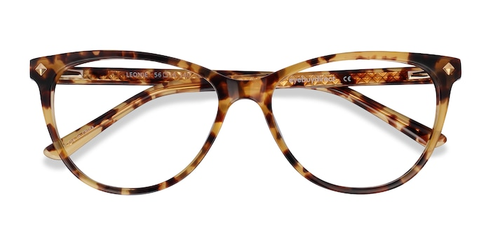 Tortoise Leonie -  Fashion Acetate Eyeglasses