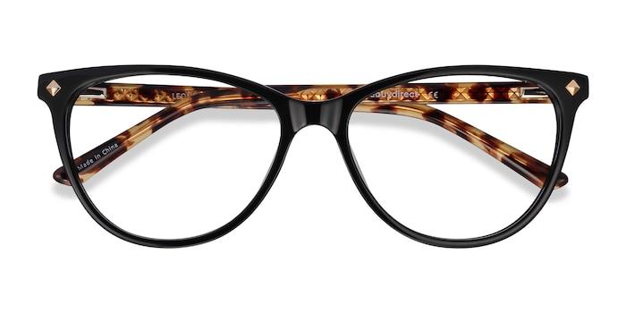 Black Tortoise Leonie -  Fashion Acetate Eyeglasses