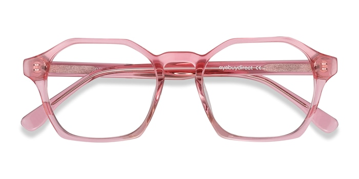 Clear Pink Orchid -  Colorful Acetate Eyeglasses