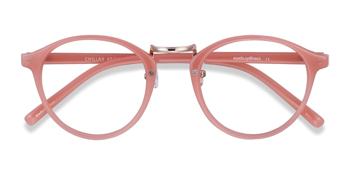 Coral Chillax -  Colorful Metal Eyeglasses