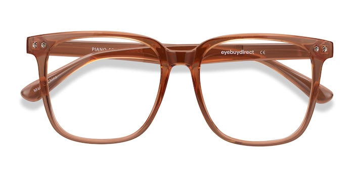 Brown Piano -  Colorful Plastic Eyeglasses