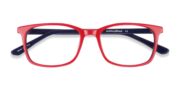 Red & Navy July -  Colorful Acetate Eyeglasses