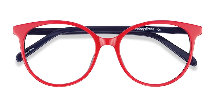 Red & Navy Patriot -  Acetate Eyeglasses