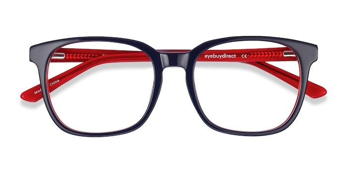 Navy & Red Firework -  Acetate Eyeglasses