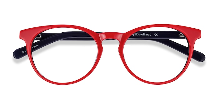 Red & Navy Tradition -  Colorful Acetate Eyeglasses