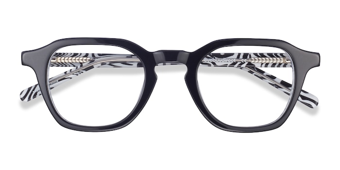 Black & Zebra Victor -  Geek Acetate Eyeglasses