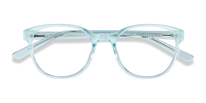 Clear Blue Gable -  Colorful Acetate Eyeglasses