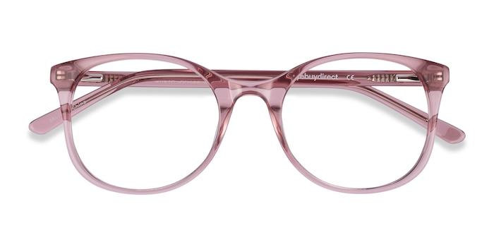 Clear Pink Greta -  Coloré Acétate Lunette de Vue