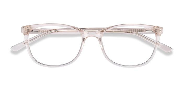Clear Beige Lena -  Acetate Eyeglasses