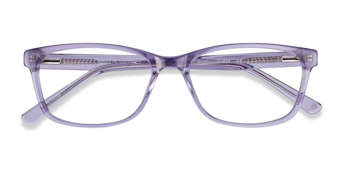 Clear Purple Marion -  Colorful Acetate Eyeglasses
