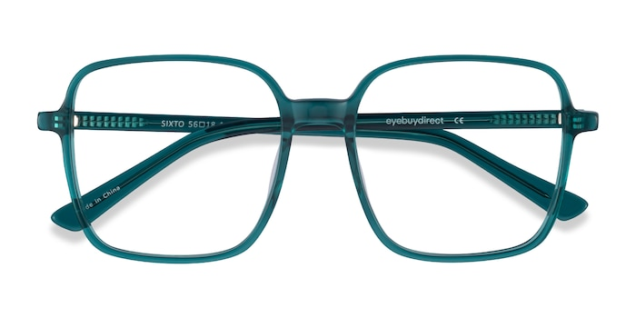 Teal Sixto -  Colorful Acetate Eyeglasses