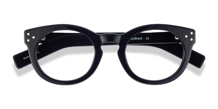 Black Morla -  Vintage Acetate Eyeglasses