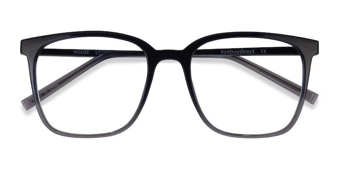 Gradient Blue House -  Plastic Eyeglasses