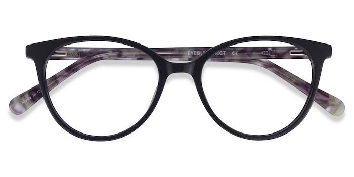 Black Floral Friend -  Acetate Eyeglasses