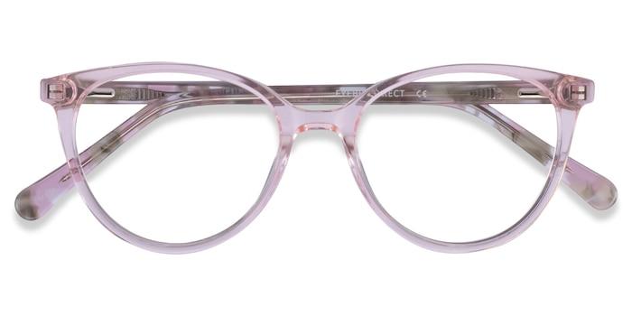 Clear Pink Floral Friend -  Acetate Eyeglasses