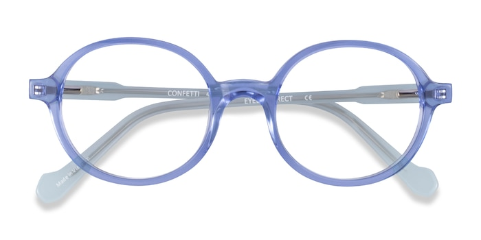 Clear Blue Confetti -  Acetate Eyeglasses